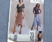 Vogue 2762 Top and Skirt Pattern NY NY Collection