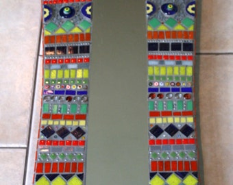 Bold and Bright Mosaic full length Mosaic Mirror Tapestry Style