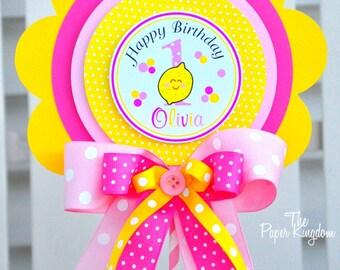 Pink Lemonade Centerpiece, Deluxe Table Centerpiece, Pink Lemonade Birthday Party