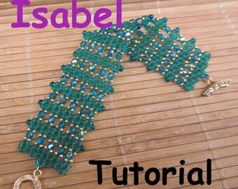 Isabel Superduo Twin   Beadwork Bracelet PDF Tutorial