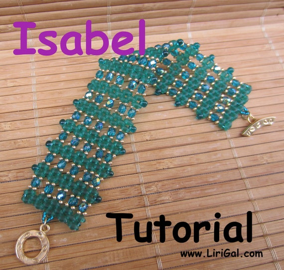 Isabel Superduo Twin   Beadwork Bracelet PDF Tutorial