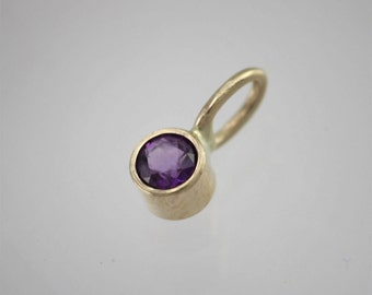 Amethyst Drop Pendant in 14k Yellow Gold (pendant only)
