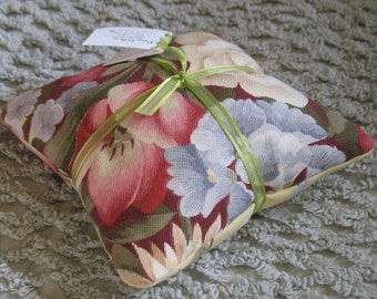 Flower Power Vintage textile pine pillow by C. Lickona