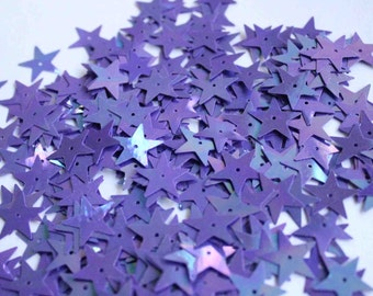100 pcs  sequins.......Purple color Star shape /KBIS222