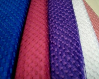 Flocked Tulle 60 inches wide purple fuschia pink deep blue white by the yard