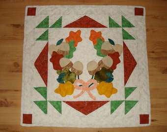 SALE - Quilted Wall Hanging - Fall Leaves - 27 x 27