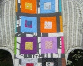Modern Baby Quilt - Square City - Boy or Girl