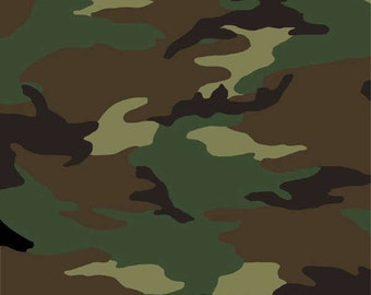 Price Reduced!  Green Camouflage (36383-1) - BTY - Windham