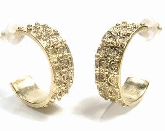 Filigree Hoops - gold earrings