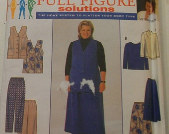 Easy Top Vest Skirt Pants 26 28 30 32 Simplicity 7863