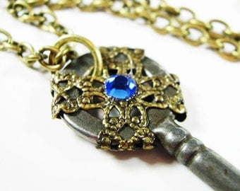 Steampunk Key Steampunk Necklace Steampunk Jewelry