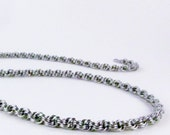 Thin Chainmaille Necklace - Stainless Steel - Kings Spiral Pattern Chain