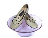 50s 60 Shoes / Mod Taupe Vintage Shoes / Sz 5.5