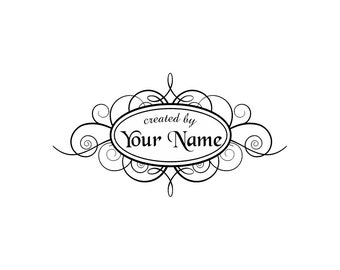Personalized unmounted cling custom made rubber stamp C42