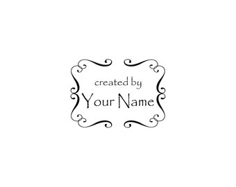 Handle Mounted or Cling Personalized Name custom made rubber stamps C03 scrapbook