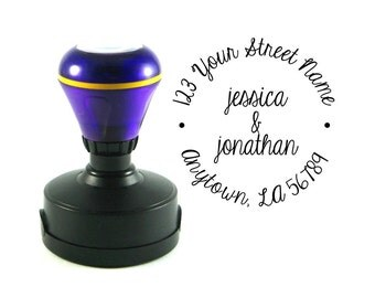 Self inking custom Personalized Return address name rubber stamp R102