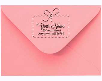 Personalized Custom Made Return Address and Name Rubber Stamps R110