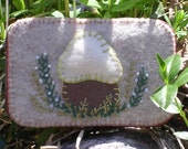 Felt Mushroom Needle box/Sewing tin