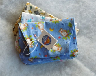 Burp Cloths for Baby Cotton Flannel Set of 3