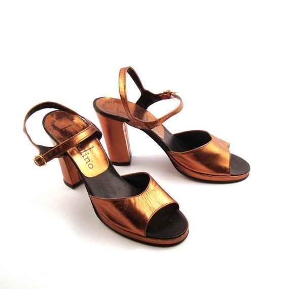 Bandolino High Heels Vintage 1970s Metallic by ...