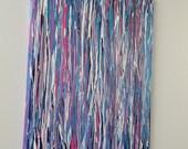 Candy Rain 16x20 drip painting