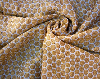 "Handloom Silk Fabric Small Gold pattern, Indian handloom silk, Fashion / brocade silk fabric, handloom, brocade gold silk, Benares silk 45""W"