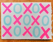 XOXO blank greeting card