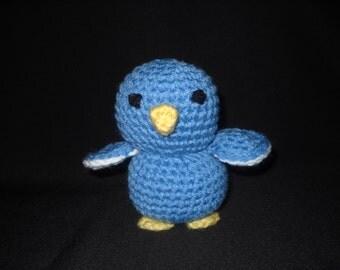 Zoo Friends Hand Made Crochet Blue Bird