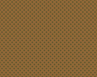 Hooty Hoot Returns Dots in Brown by Riley Blake - 1 Yard