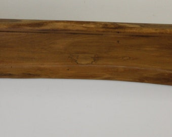 Solid Poplar Wood Wall Shelf