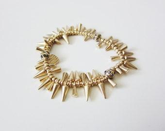 Gold Petite Spike Bracelet