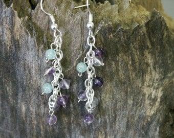 Flourite dangle earrings