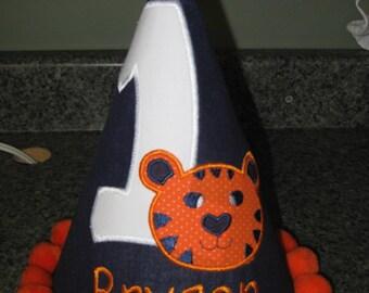 Custom Personalized Birthday Hat Tiger