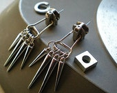 Tooth and nail - industrial hardware earrings