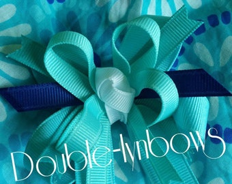 Aqua Summer from Gymboree M2M hairbow from Double-lynbows