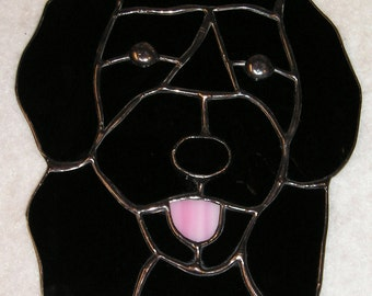 Portuguese Waterdog Stained Glass Suncatcher
