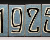 Handmade Five-Digit House Number Tiles - Made to Order