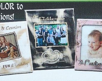 Photo Frames,5x7 Photos,Photos,Photographs,Wood,Natural,Shabby, Solid Lacquer Painted, Personalized Engraving