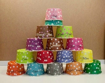 25 Polka Dots Baking Cups