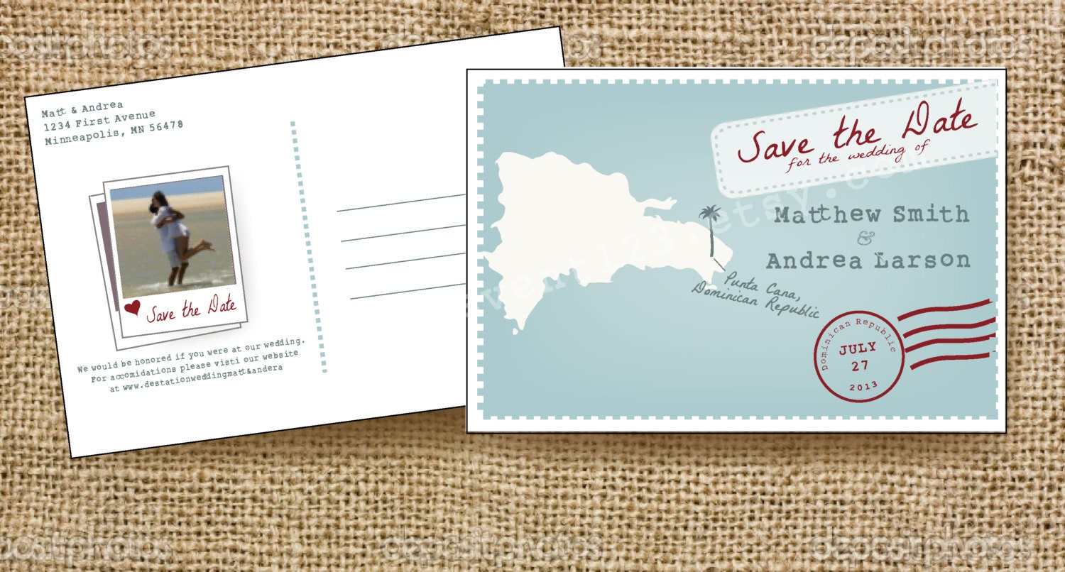 Save the date postcards in Perth