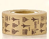 Cartonnage Tape - Old Paris in Brown - 25mm Wide