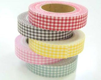 Decollections Fabric Masking Tape - Gingham Checks