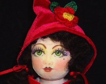 "My version of Red Riding Hood 15"" Cloth Doll Pattern CD Caroline Erbsland Signed"