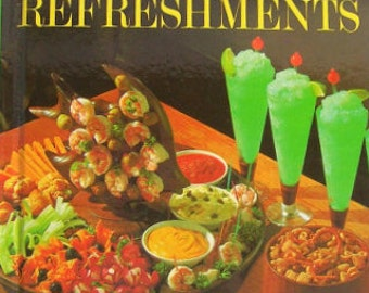 Better Homes and Gardens Snacks and Refreshments vintage hardcover cookbook