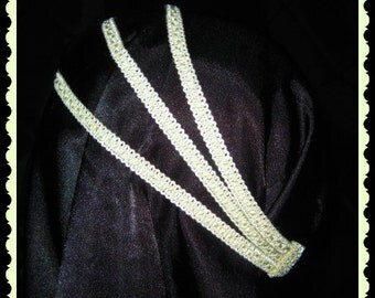 Lace three tier headband you can choice your color and can be made for premies to adults