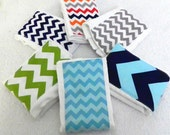 Chevron Boy Burp Cloths - Your Choice- Set of 6, Baby Clothes Diaper Zig Zag
