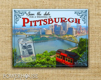 Pittsburgh Postcard Save the Date