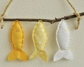 Three Wish Fish in Yellow - Wall Decor