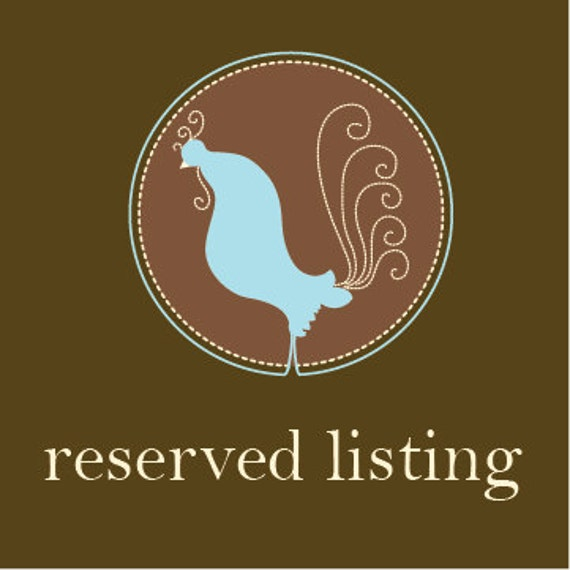 RESERVED LISTING - SARAH