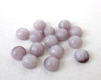 Vintage Glass Cabochon Amethyst Star Tiny Dome 5mm gcb0730 (12)